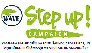 WAVE Step up! logo+tagline